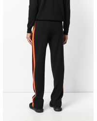 Givenchy - Black Stripe Panel Loose Fit Trousers for Men - Lyst