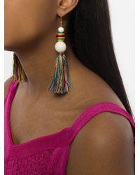 Rosantica - White Fringed Drop Earrings - Lyst