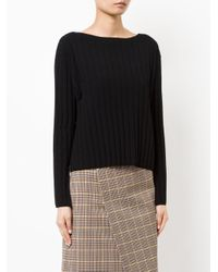 Astraet - Black Ribbed Jumper - Lyst