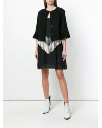 DROMe - Black Frill Sleeve Jacket - Lyst