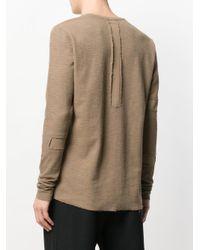 Thom Krom - Brown Patch Detail Sweatshirt for Men - Lyst