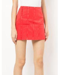 MARINE SERRE Red Moire Skirt