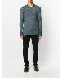 Avant Toi - Blue Ribbed Jumper for Men - Lyst