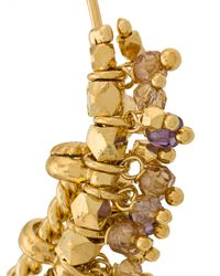 Gas Bijoux - Metallic Embellished Hoop Earrings - Lyst