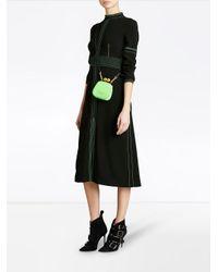 Burberry - Black Topstitch Detail Crepe Dress - Lyst