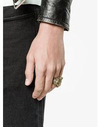 Gucci - Metallic Tiger Head Ring - Lyst
