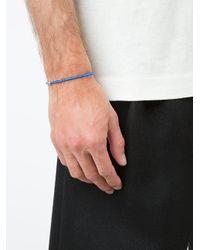 Luis Morais - Blue Small Horus Eye Barrel Beaded Bracelet for Men - Lyst
