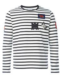 Alexander McQueen - White Badge Appliqué Striped Top for Men - Lyst