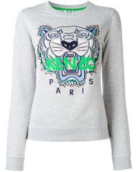 KENZO   Gray Tiger Sweatshirt   Lyst