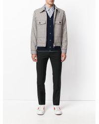 Eleventy - Blue Classic Collar Cardigan for Men - Lyst
