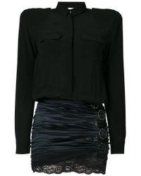 Faith Connexion - Black Lace Trimmed Buckle Detail Dress - Lyst