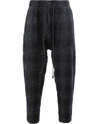 Attachment | Blue Drawstring Tailored Pants for Men | Lyst