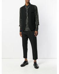 Ann Demeulemeester Black Printed Shirt for men