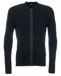 Z Zegna - Blue Zipper Sweater for Men - Lyst