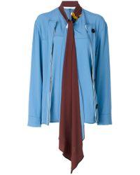 Marni - Blue Silk Shirt - Lyst