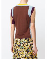 Marni Brown Colour Blocked Sweater
