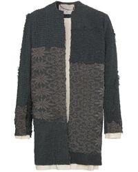 By Walid - Gray Alex Floral Crochet Coat for Men - Lyst