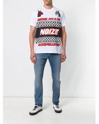 DIESEL - White Noize Print T-shirt for Men - Lyst