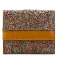 Etro - Multicolor Small Paisley Wallet - Lyst