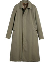 Burberry - Green Single Breasted Coat - Lyst