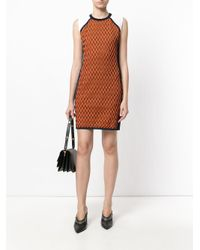 Versace - Orange Symmetric Knitted Dress - Lyst