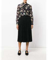 Vilshenko - Black Floral Print Blouse - Lyst
