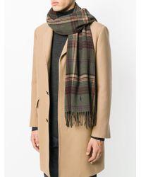 Polo Ralph Lauren - Green Checked Scarf for Men - Lyst