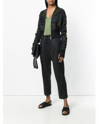 Andrea Ya'aqov Black Cropped Pleated Trousers