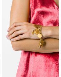 Chloé - Metallic Branded Charm Bracelet - Lyst