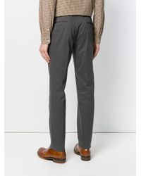Incotex - Gray Regular Fit Chino Trousers for Men - Lyst
