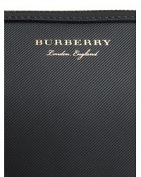 Burberry - Black Printed Logo Pouch - Lyst