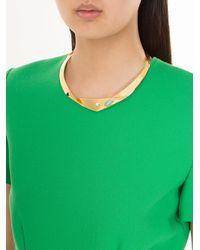 Lizzie Fortunato - Metallic Organic Knot Collar - Lyst