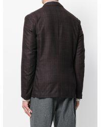 Eleventy - Red Tartan Check Blazer for Men - Lyst