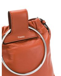 Theory Brown Post Shoulder Bag