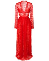 Ermanno Scervino - Red V-neck Lace Gown - Lyst