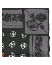 KENZO - Black Tiger Patch Neck Scarf - Lyst