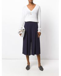 Polo Ralph Lauren - Blue Wide Leg Cropped Pants - Lyst