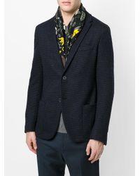 Fendi - Black Floral Embroidered Scarf for Men - Lyst
