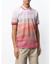 Missoni - Red Poloshirt mit Print for Men - Lyst