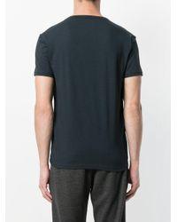 Emporio Armani - Blue Logo Print T-shirt for Men - Lyst