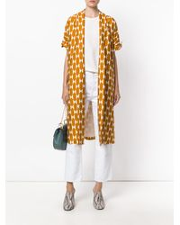 Tory Burch - Orange Geometric Print Kimono Coat - Lyst