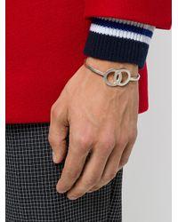 Maison Margiela - Gray Cuff Bracelet for Men - Lyst