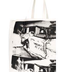 CALVIN KLEIN 205W39NYC White X Andy Warhol Printed Tote Bag