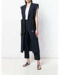 3.1 Phillip Lim - Blue Long Belted Vest - Lyst