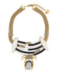 Camila Klein - Metallic Appliqué Necklace - Lyst