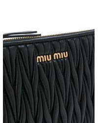 Miu Miu Black Matelasse Beauty Case