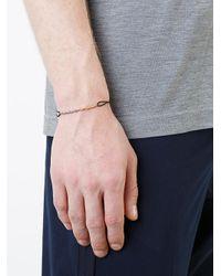 530Park - Metallic Rope Chain Cord Bracelet for Men - Lyst