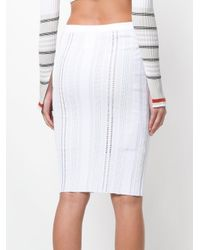 Mrz - White Pencil Skirt - Lyst