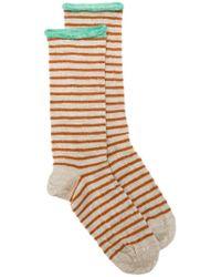 Bellerose - Natural Striped Socks for Men - Lyst