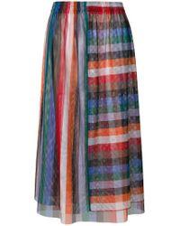 Reality Studio - Multicolor Rainbow Midi Skirt - Lyst